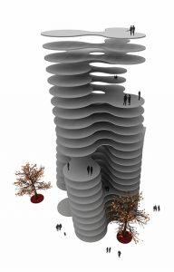 Desarrollo interior de las plantas del edificio