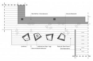 Plano de la propuesta zona distención