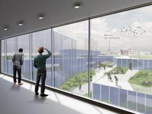 Imagen Interior planta 3 hacia el exterior del edificio