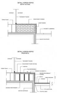 Detalle coronación edificio