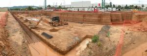 Movimiento de tierras para la construcción de la planta -1